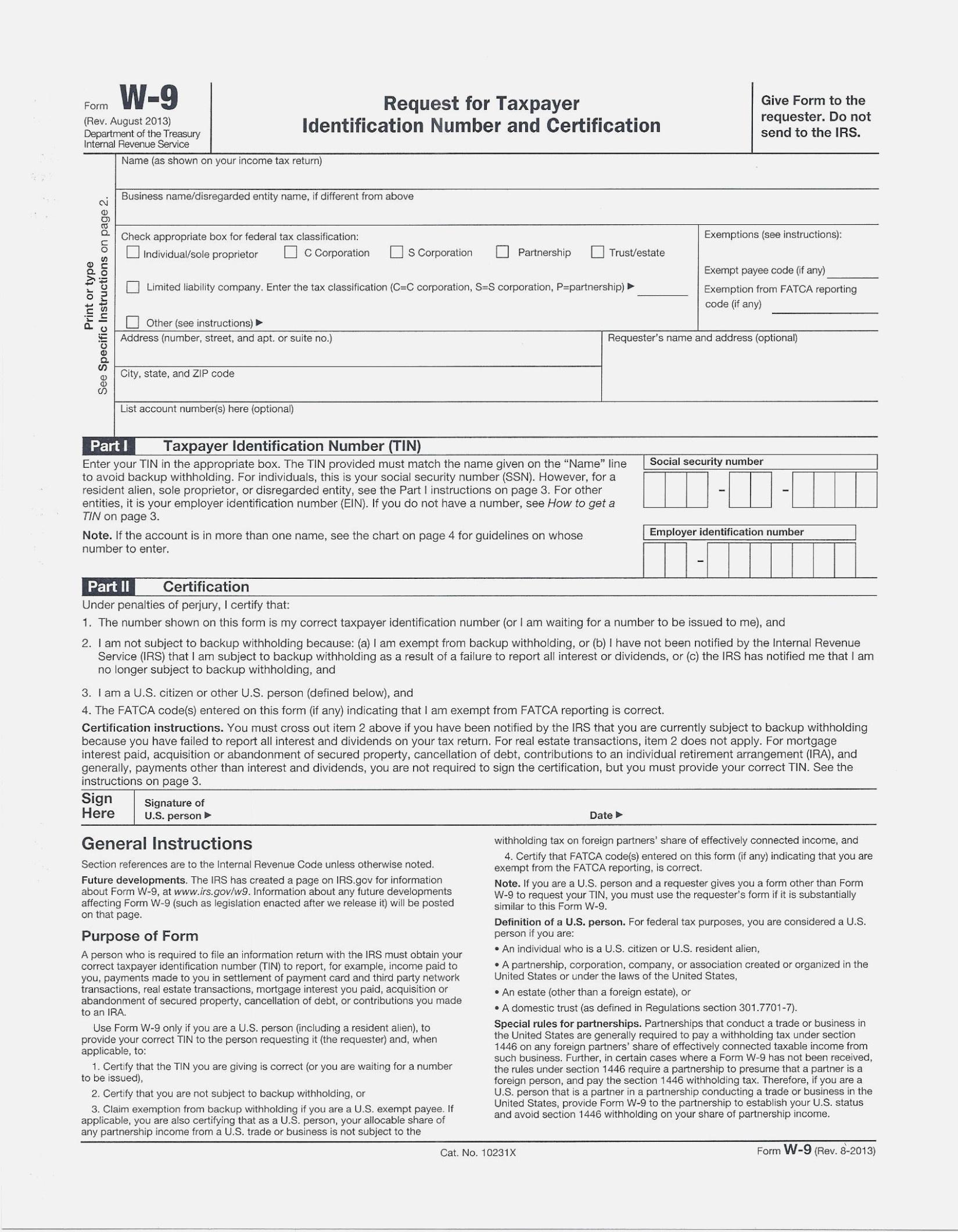 Fresh Free Printable W 14 Form   Downloadtarget – W9 Form Printable - W9 Form Printable 2017 Free