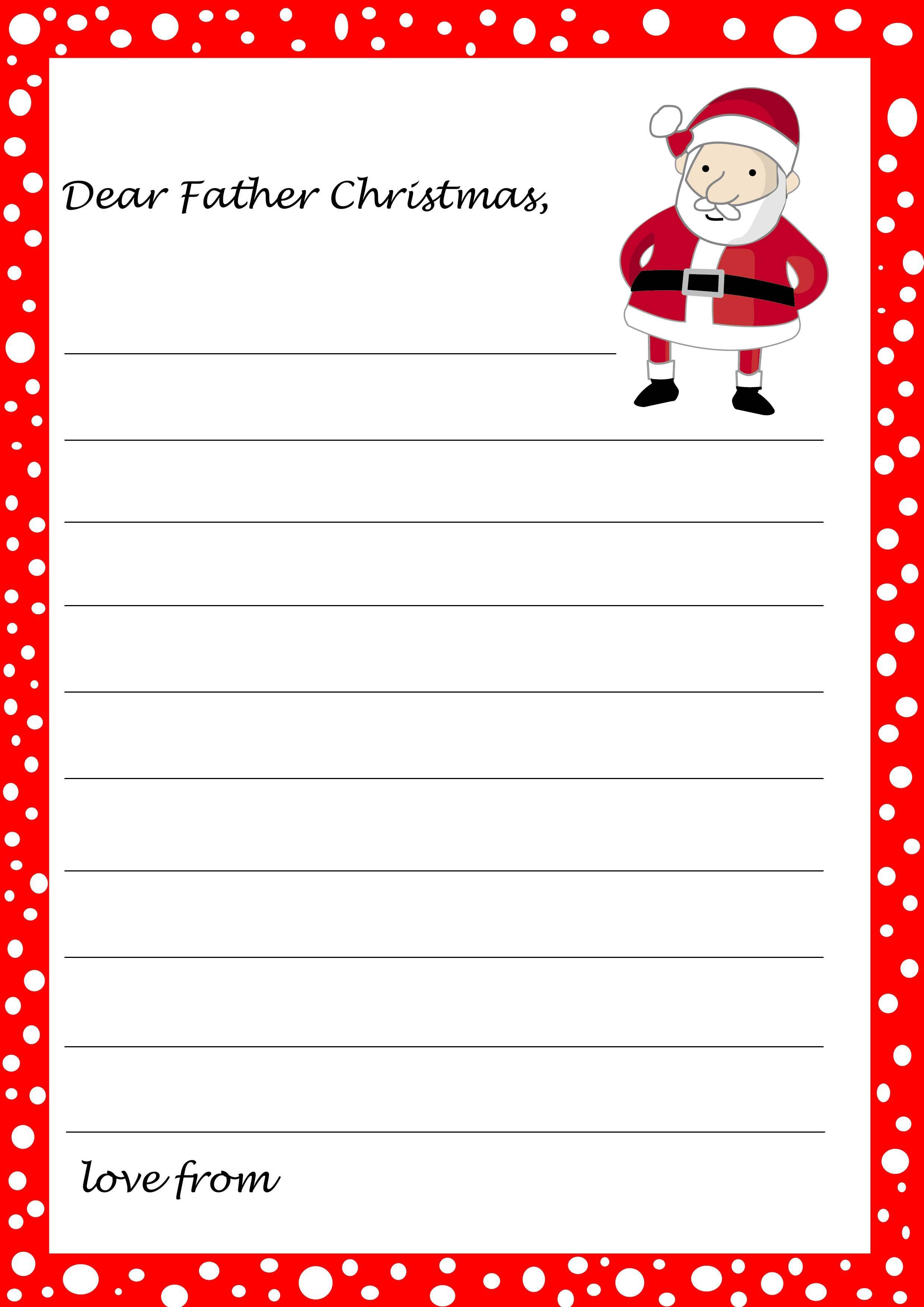 From Santa Letter Templates - Tutlin.psstech.co - Free Santa Templates Printable