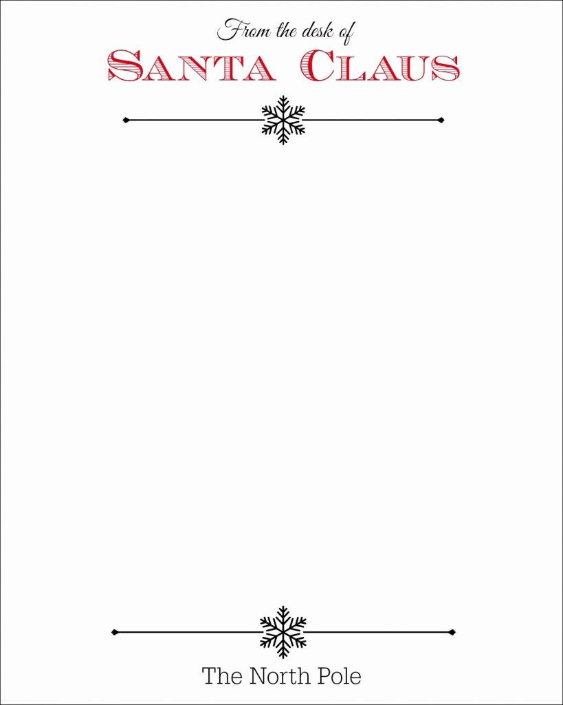 From The Desk Of Santa Claus Letterhead 301 Moved Permanently - North Pole Stationary Printable Free