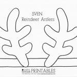 Frozen Elsa Crown Template & Sven Antler Template | Ava | Reindeer   Reindeer Antlers Template Free Printable