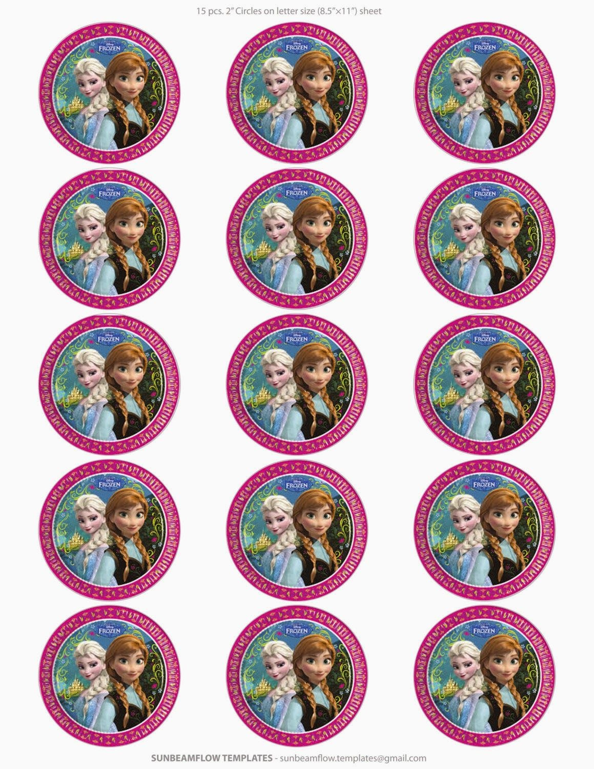 Frozen: Free Printable Toppers. | Oh My Fiesta! In English | Frozen - Frozen Cupcake Toppers Free Printable