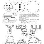 Frugal Edmonton Mama: Frugal Crafts: Preschool Snowman Shape Cutting   Free Printable Crafts For Preschoolers