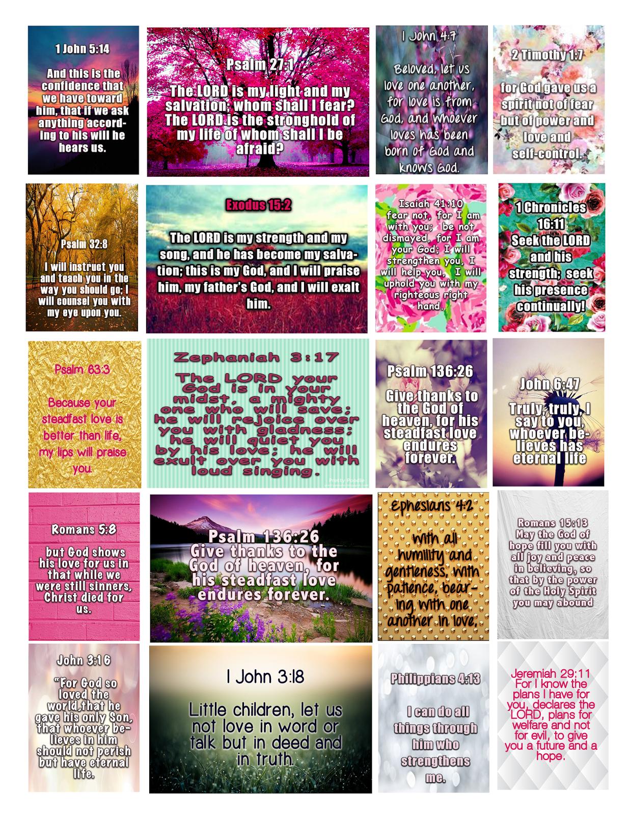 Full Faith ::..: Bible Verses Free Christian Sticker Printable - Free Printable Bible Verse Labels