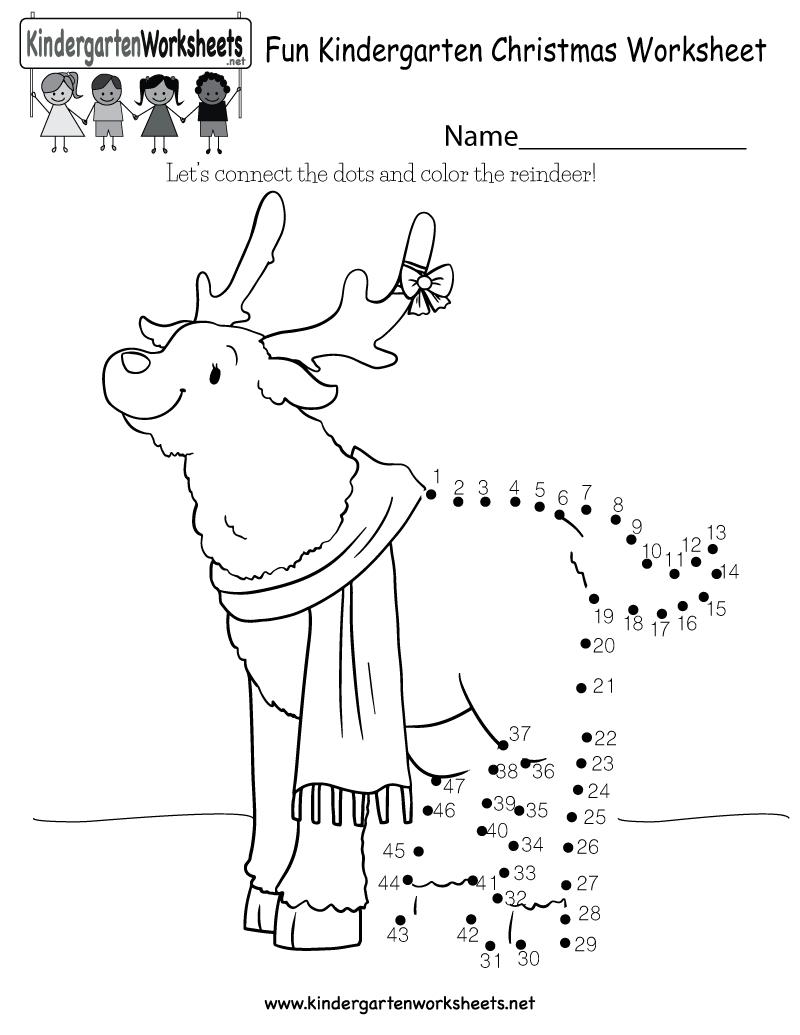Fun Christmas Worksheet - Free Kindergarten Holiday Worksheet For Kids - Christmas Fun Worksheets Printable Free