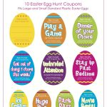 Fun Things To Put In Your Egg Hunt! Easter Egg Fillers (Free   Free Printable Easter Stuff