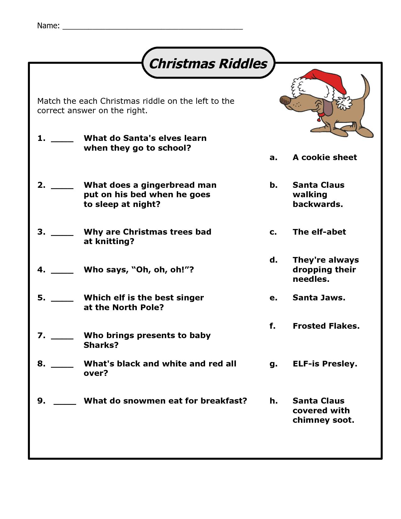 Funny Christmas Riddles | Christmas | Christmas Riddles, Christmas - Free Printable Christmas Riddle Games