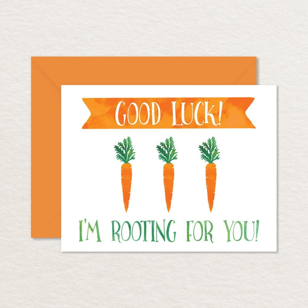 Funny Good Luck Card / Printable Good Luck Card / Vegetables / | Etsy - Free Printable Good Luck Cards