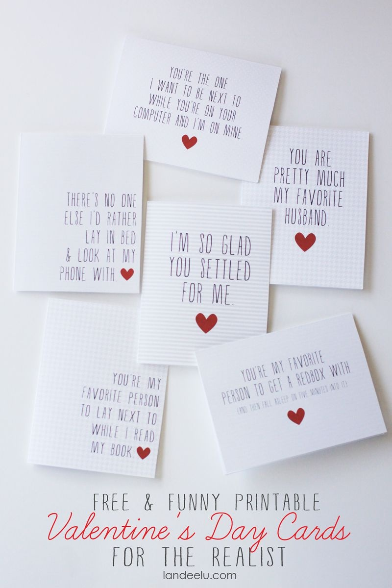Funny Printable Valentine's Day Cards | Valentines Day | Printable - Free Printable Valentines Day Cards For Her