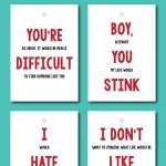 Funny Valentines Free Printable Labels / Cards | Parties Full Of Wonder   Free Funny Printable Cards