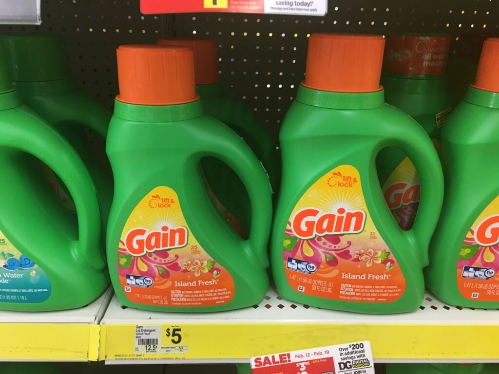 Gain Laundry Detergent Just $1.95 At Dollar General!living Rich With - Free Printable Gain Laundry Detergent Coupons
