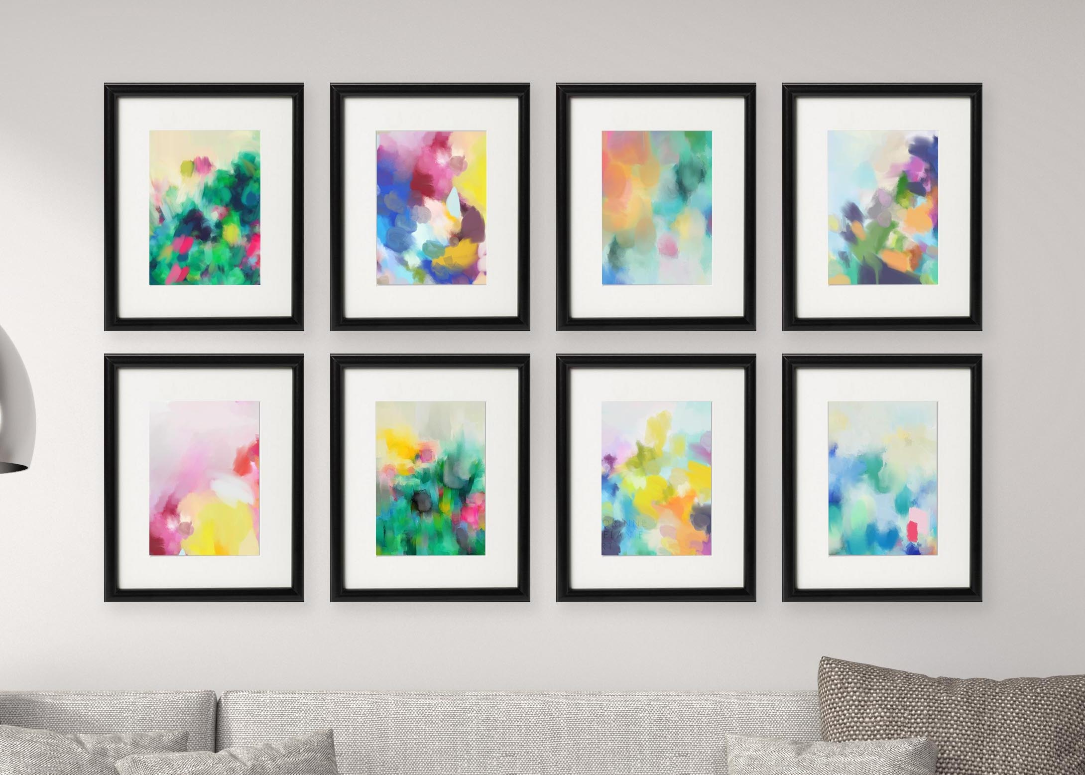 Gallery Wall Free Printables: Download All 8 Colourful, Abstract Art - Free Printable Artwork To Frame