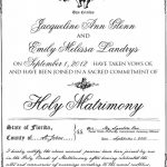 Gay Marriage Certificate Example | Gay & Lesbian Weddings | Lesbian   Commitment Certificate Free Printable