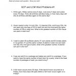 Gcf And Lcm Word Problems #1   Free Printable Lcm Worksheets