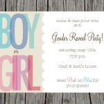 Gender Reveal Party Invitations Free Templates | Invitstiondown   Free Printable Gender Reveal Invitations