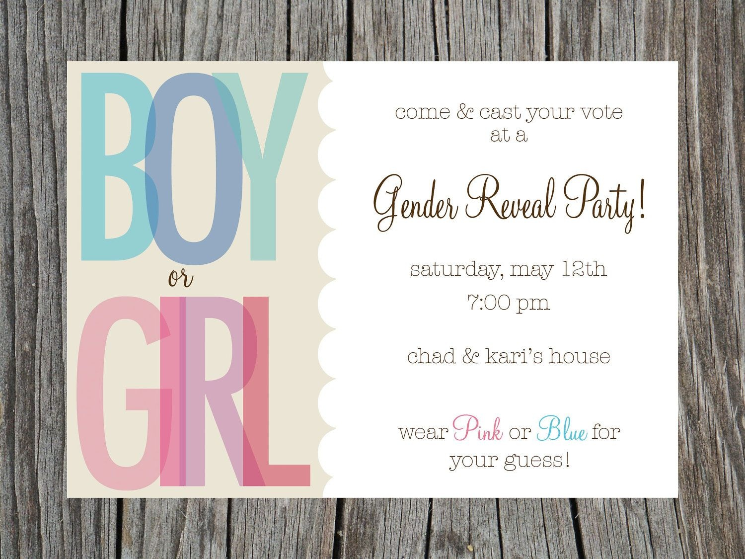 Gender Reveal Party Invitations Free Templates | Invitstiondown - Free Printable Gender Reveal Invitations