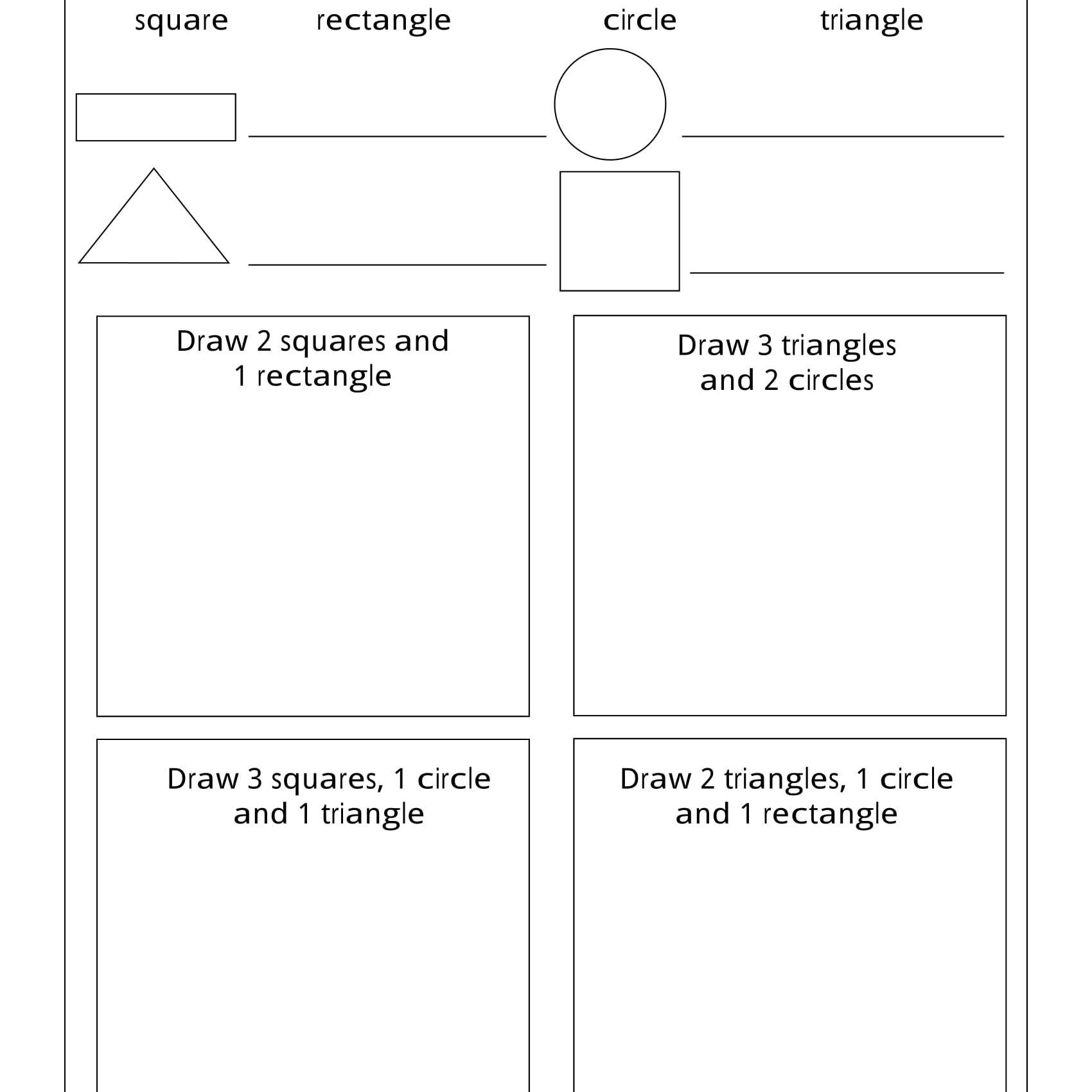 Geometry Worksheets For Students In 1St Grade - Free Printable Geometry Worksheets For Middle School