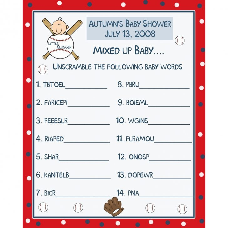 Free Printable Baby Shower Games In Spanish