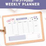 Get Organised With This Free Printable Weekly Planner   Cute   Free Printable Images