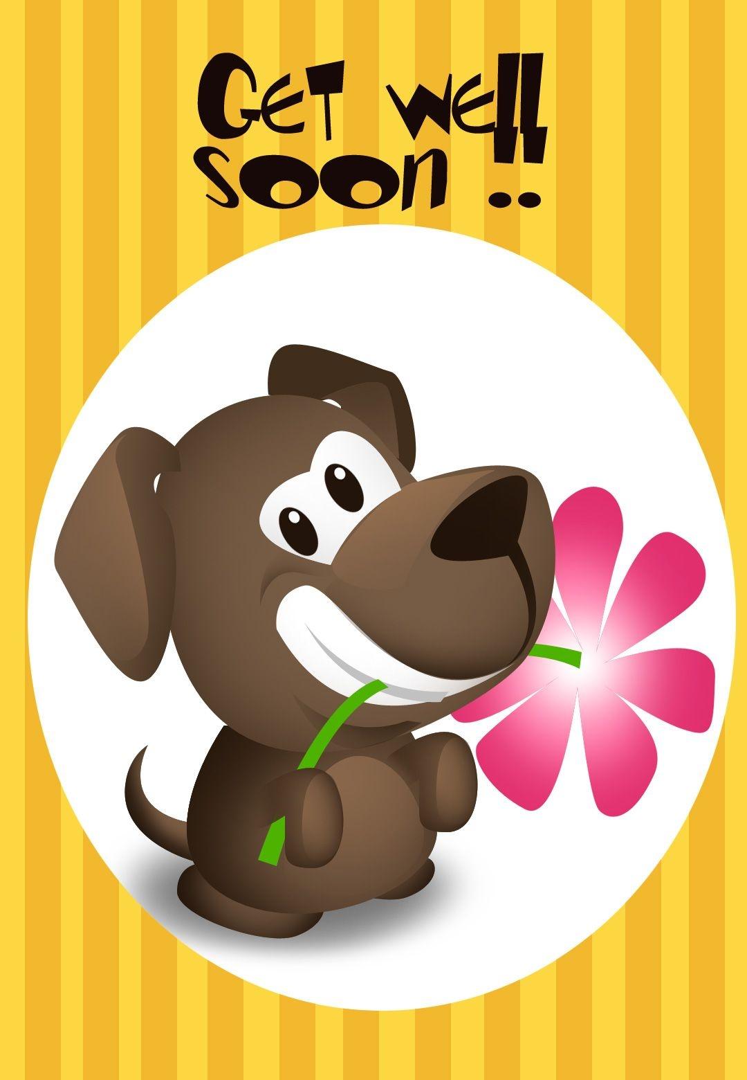 Get Well Soon Puppy Greeting Card | * Prenten 18/ Beterschap - Sterkte * - Free Printable Get Well Cards