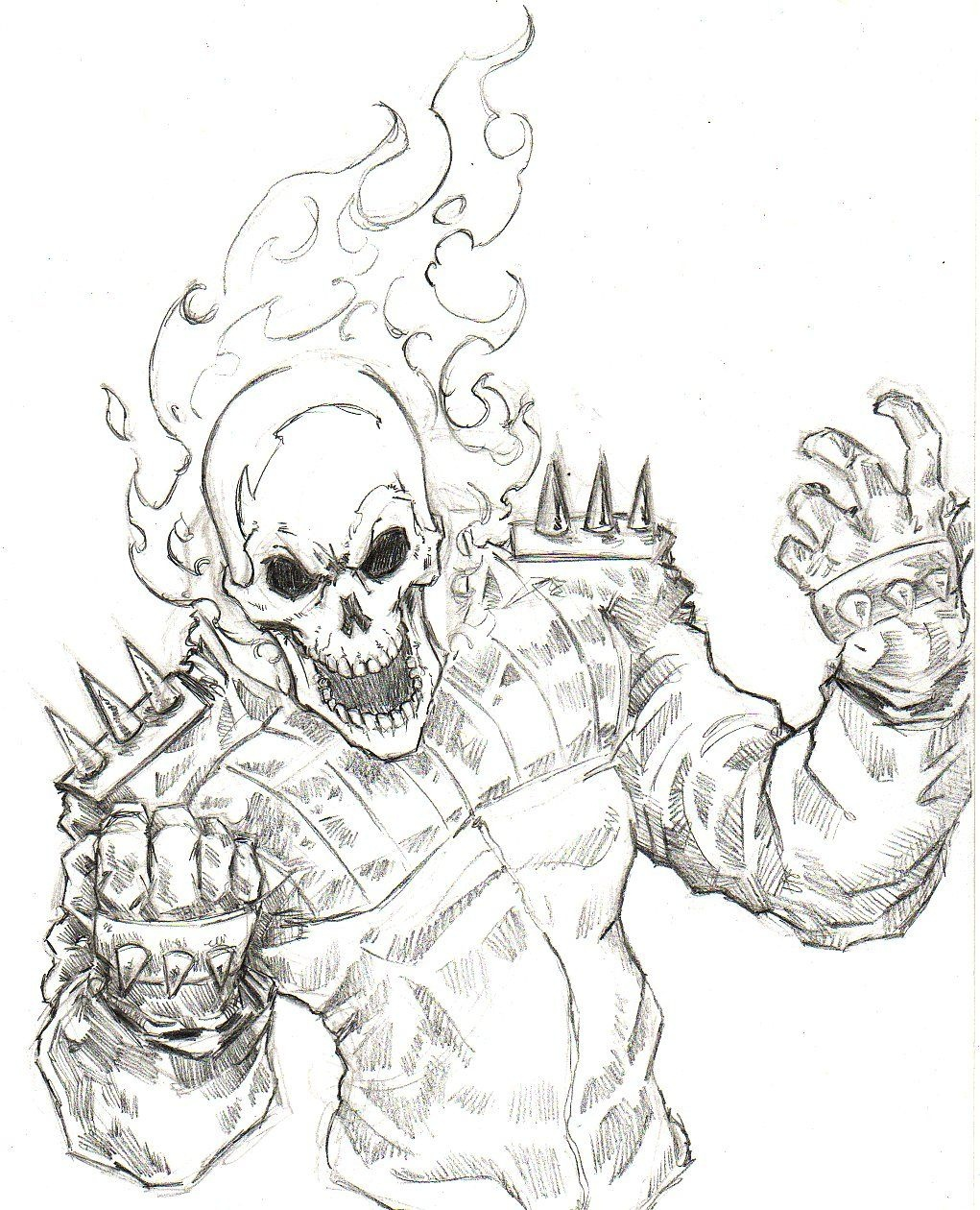 Ghost Rider Coloring Pages - Google Search | M F | Ghost Rider - Free Printable Ghost Rider Coloring Pages