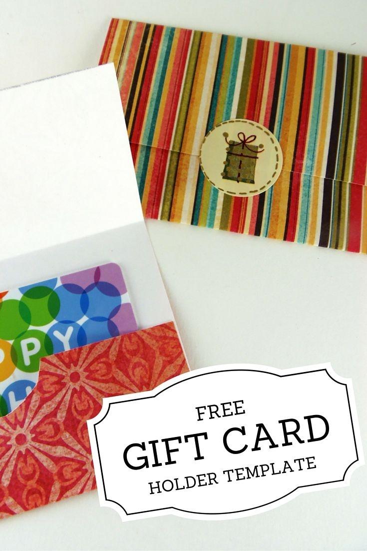 Gift Card Holder Templates | Christmas | Printable Gift Cards - Free Printable Christmas Money Holder Cards