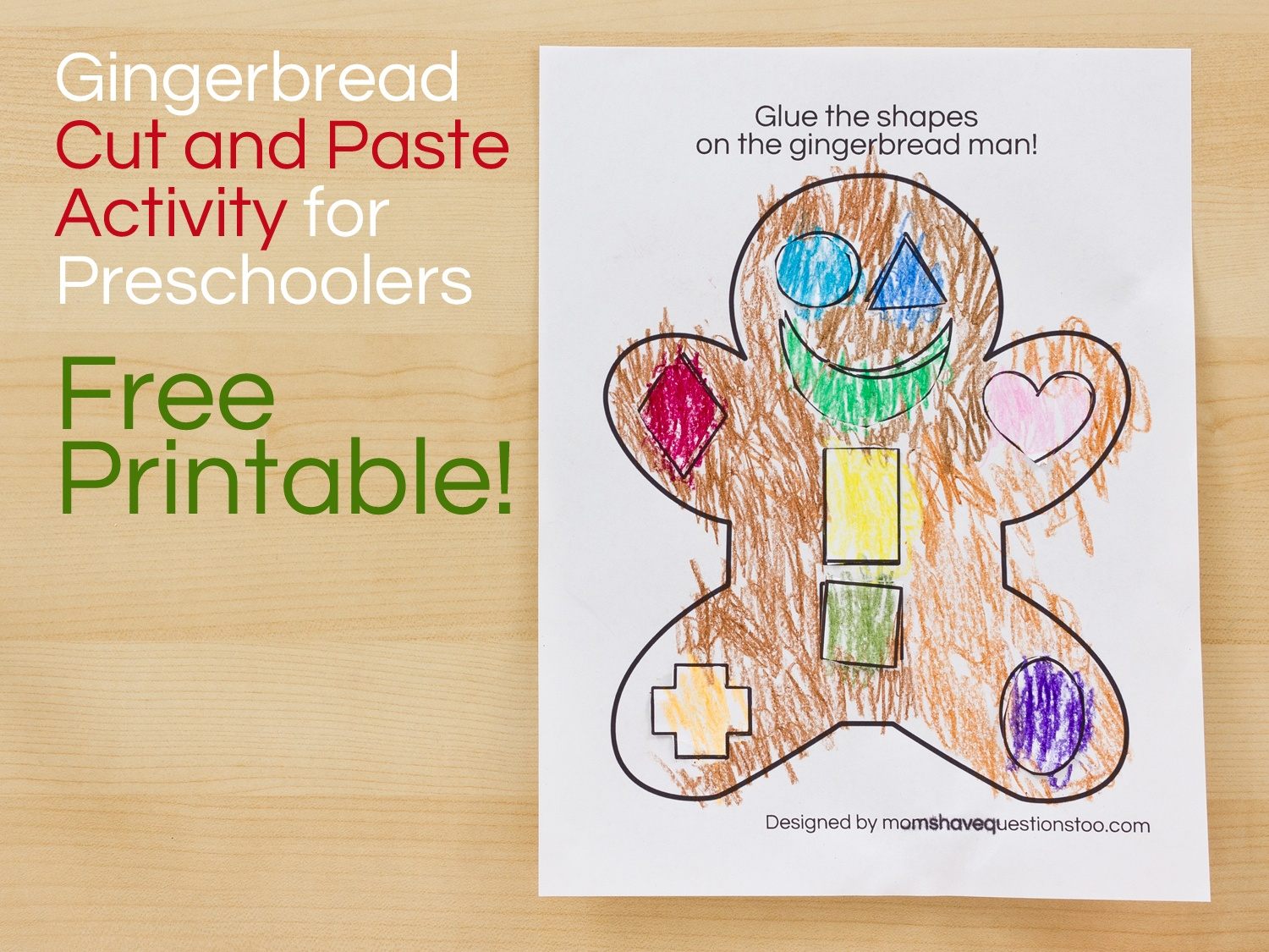 Gingerbread Man Cut And Paste Preschool Activity - Moms Have - Free Printable Gingerbread Man Activities