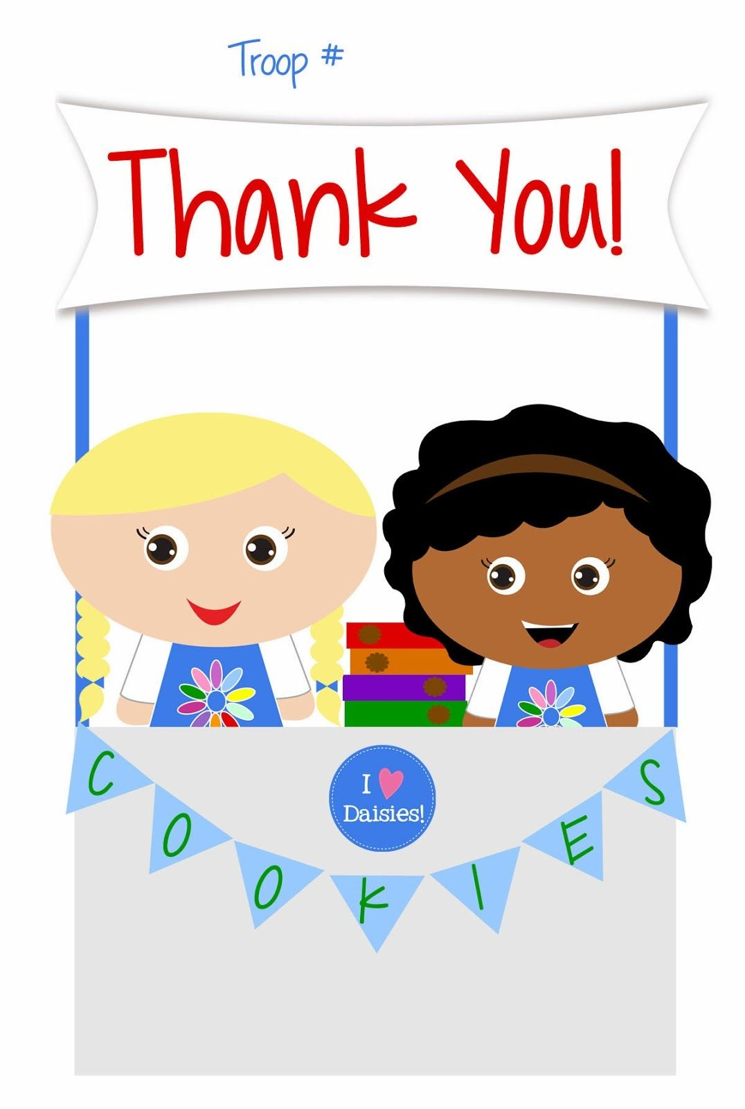 Girl Scouts - Daisies - Free Printable Thank You Cards | Girl Scouts - Free Printable Eagle Scout Thank You Cards