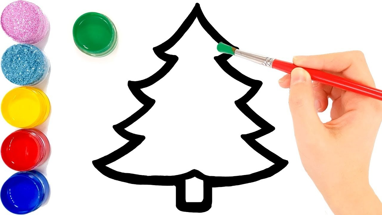Glitter Christmas Tree Ornaments Coloring And Drawing For Kids - Free Printable Christmas Tree Ornaments To Color