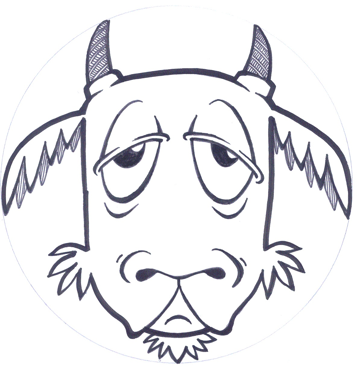 Goat Template. 19 Animal Goats Printable Coloring Sheet. Goat - Three Billy Goats Gruff Masks Printable Free