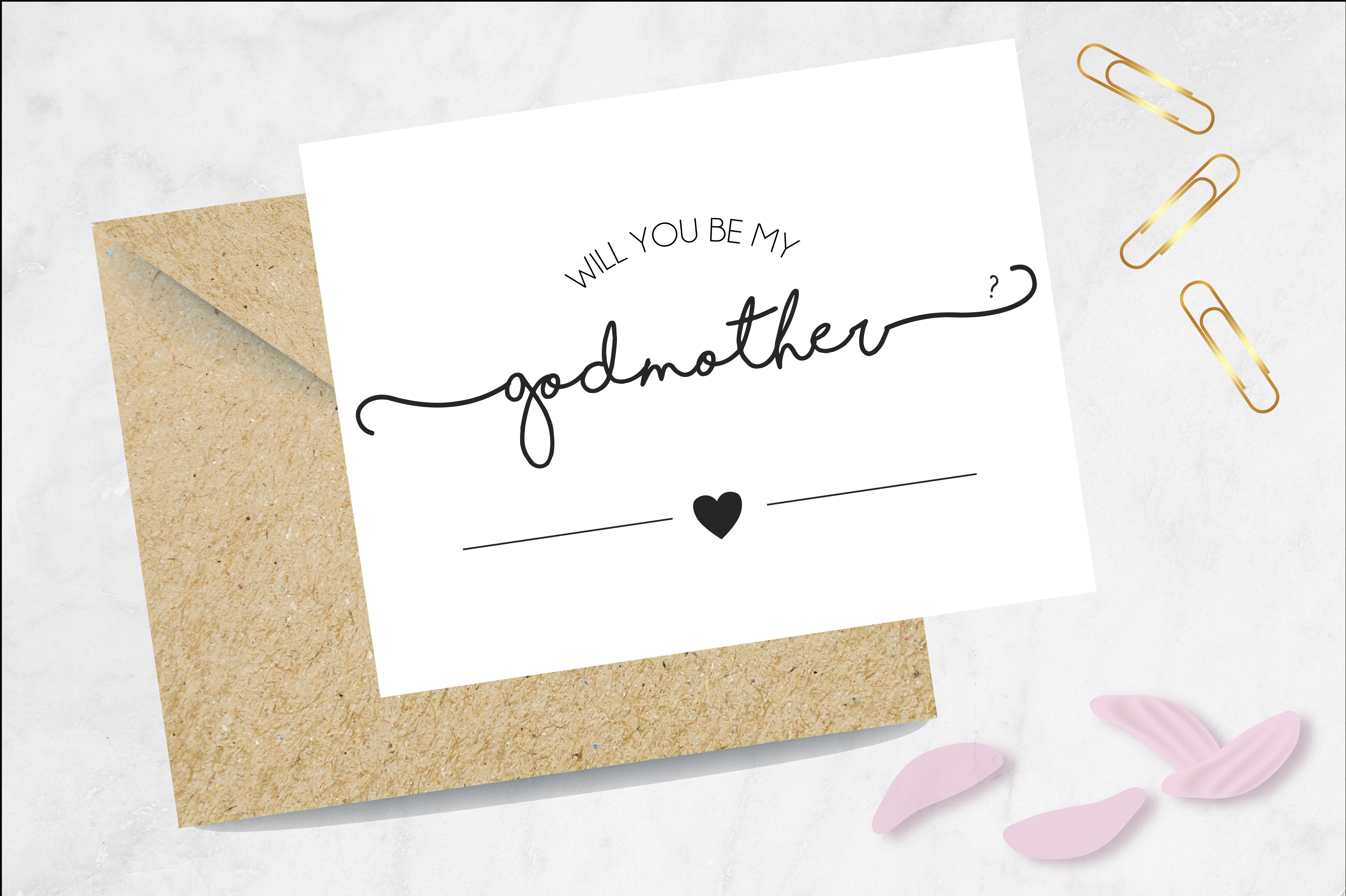 Godmother Proposal Card, Be My Godmother Card, Card For Godmother - Will You Be My Godmother Printable Card Free