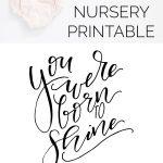 Gold Collar Girl /// You Were Born To Shine Nursery Printable   See   The Year You Were Born Printable Free