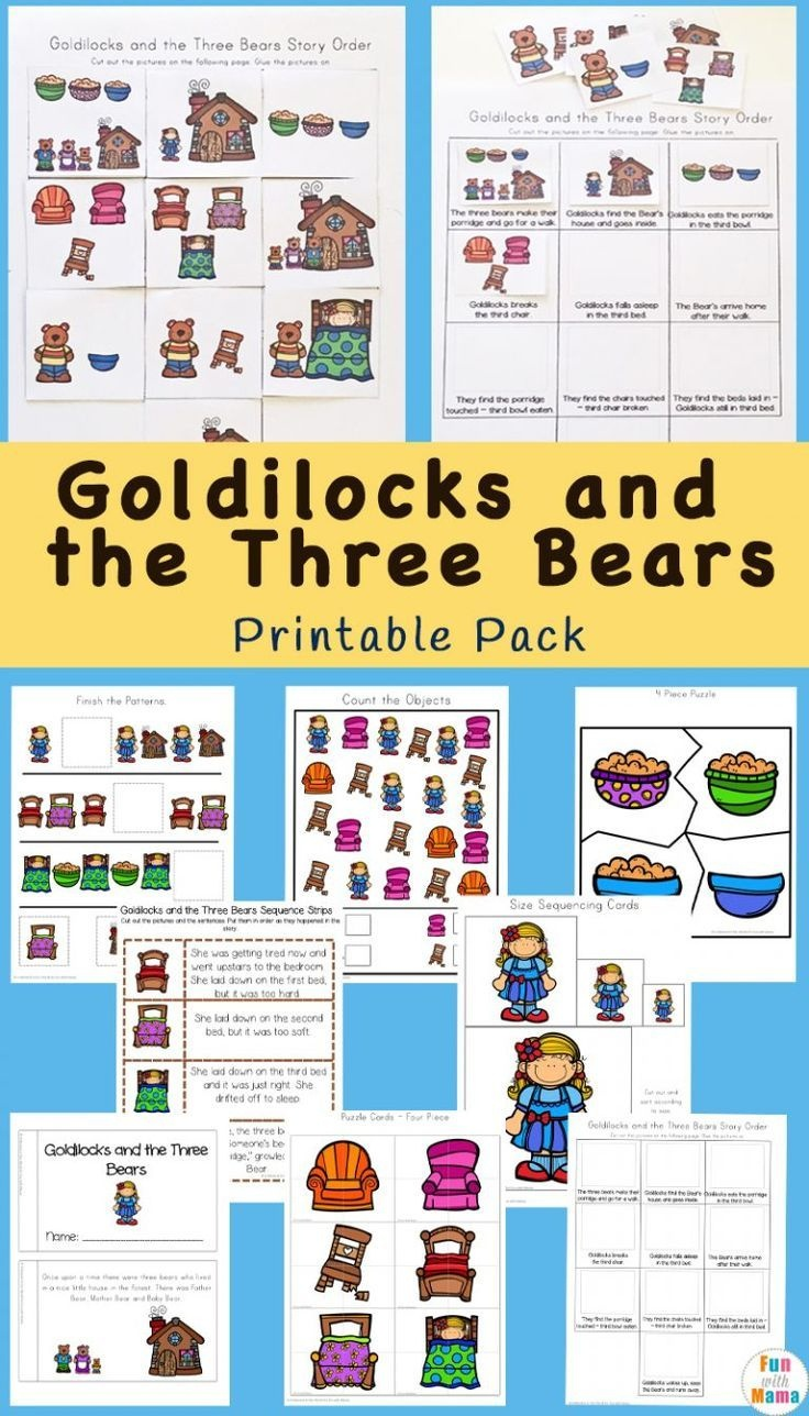 Goldilocks And The Three Bears Printable Pack | Free Printable - Free Printable Goldilocks And The Three Bears Story