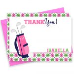 Golf Thank You Card Golf Thank You Golf Note Cards Golf | Etsy   Free Printable Golf Stationary