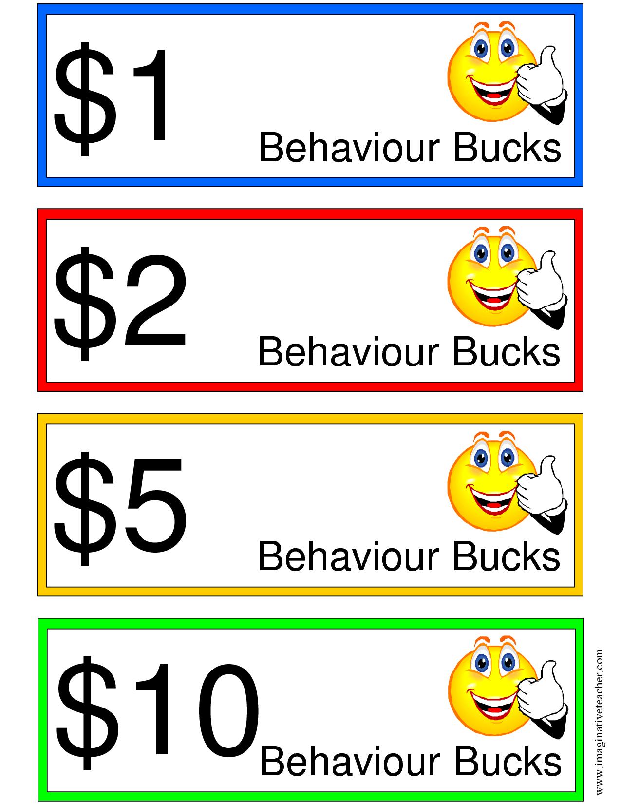 Good Behavior Bucks | Items Ship Free Printable Chores Print - Free Printable Chore Bucks