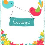 Goodbye From Your Colleagues   Free Good Luck Card | Greetings   Free Printable Goodbye Cards