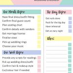 Grab This Free Printable Last Minute Wedding Checklist | Sarah's   Free Printable Wedding Checklist