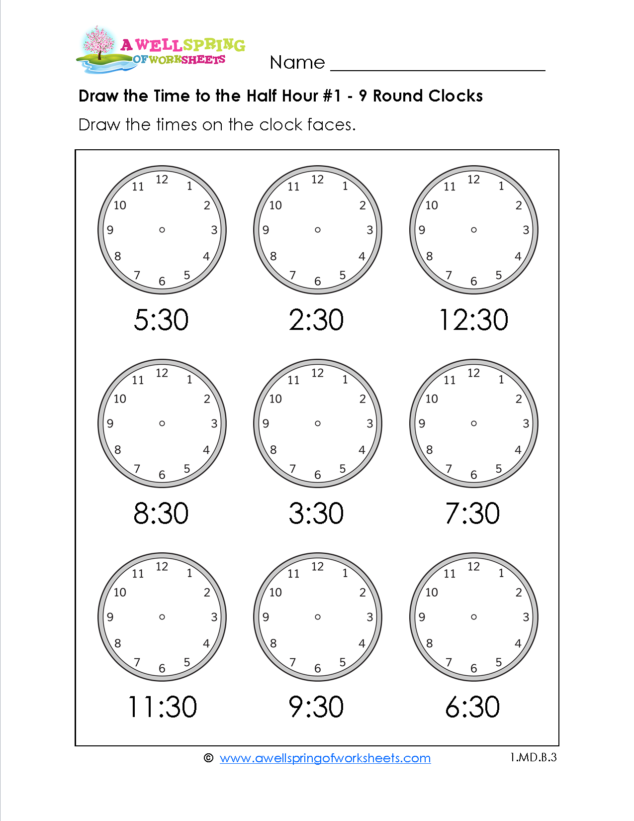 Free Printable Telling Time Worksheets For 1St Grade ...