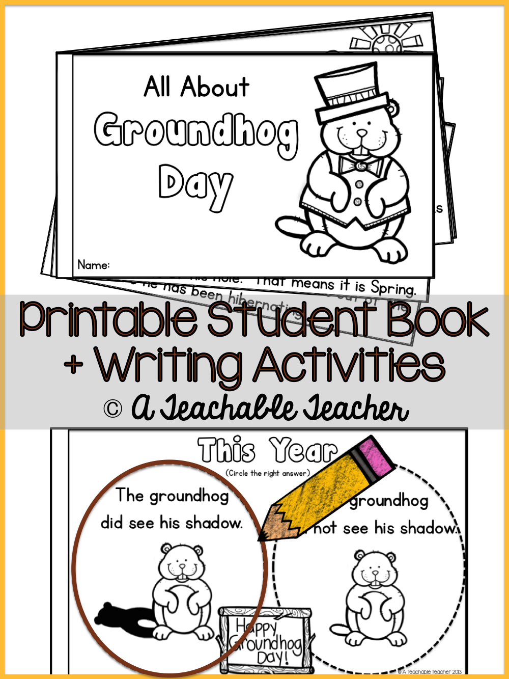 Groundhog Day   Groundhog Day Activities   Best Of Winter: New Year - Free Printable Groundhog Day Booklet