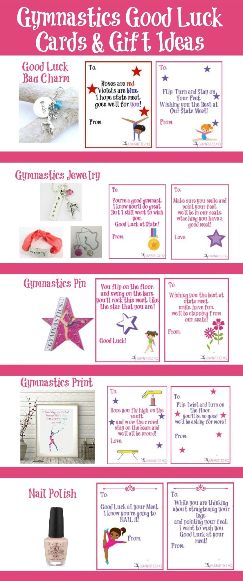 Gymnastics Good Luck Gift Ideas Along With Free Printable Good Luck - Free Printable Good Luck Cards