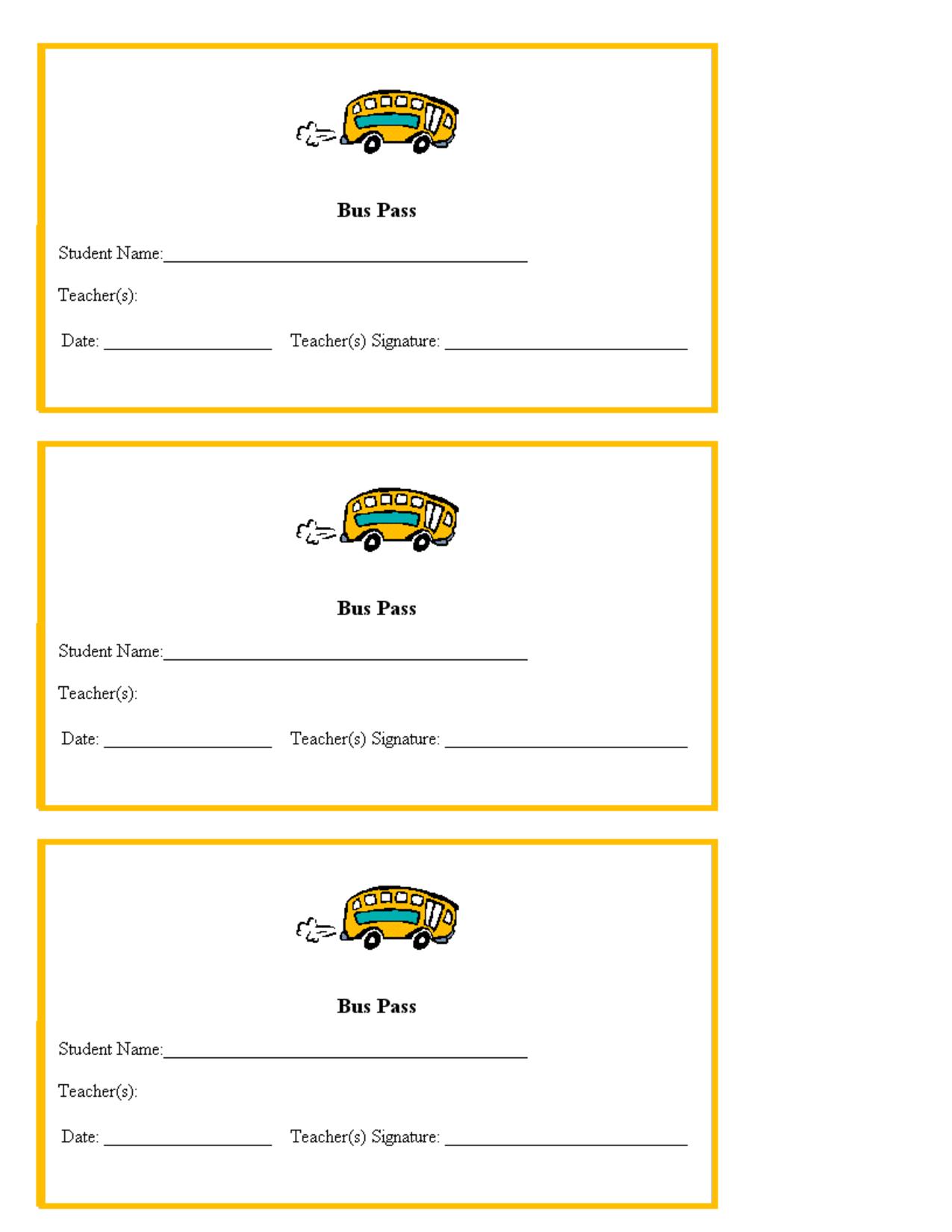 Hall Pass Template For Teachers | Teacher Printables School Bus - Free Printable Hall Pass Template