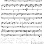 Hallelujah   Cohen   Rufus Wainwright   Shrek Best   Sheet Music   Hallelujah Piano Sheet Music Free Printable