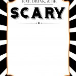 Halloween Invitations Free Printable Template   Paper Trail Design   Halloween Invitations Free Printable Black And White