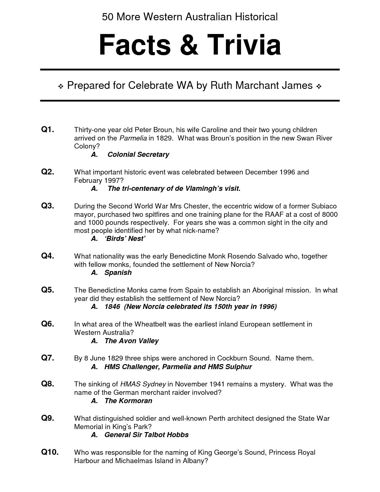 Halloween Quiz Questions Printable – Festival Collections - Free Printable Halloween Quiz