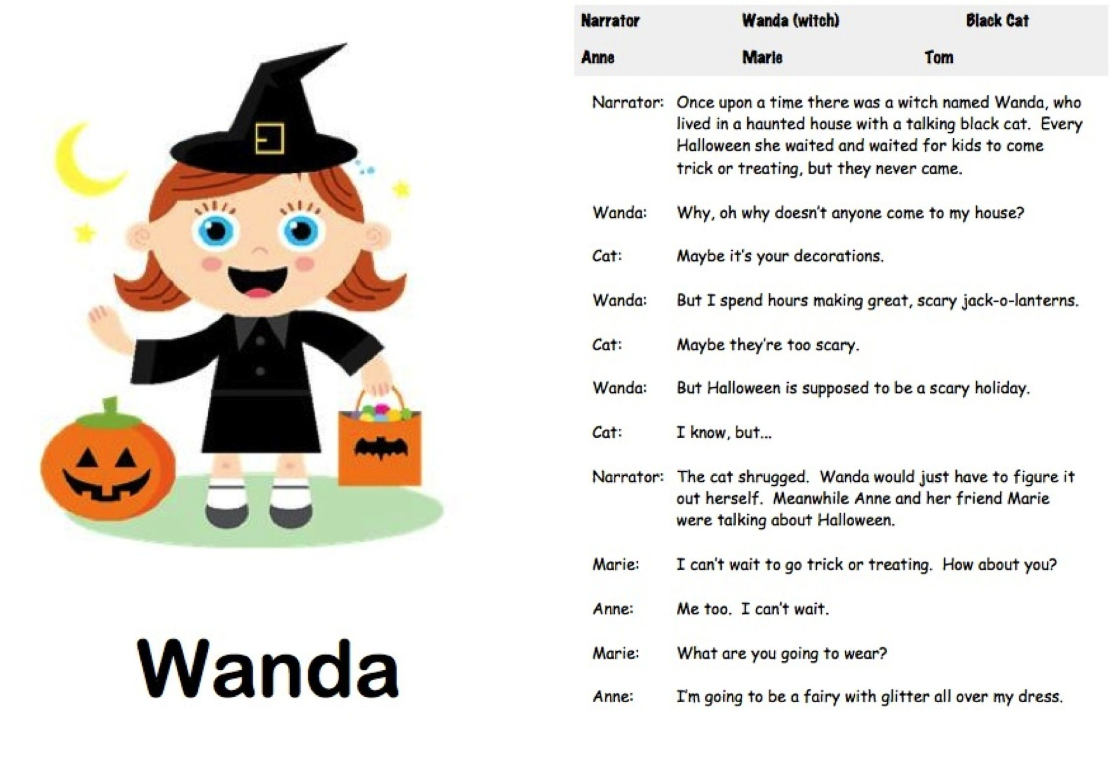 Halloween Readers' Theater: The Witch's House   Readers' Theater - Free Printable Halloween Play Scripts