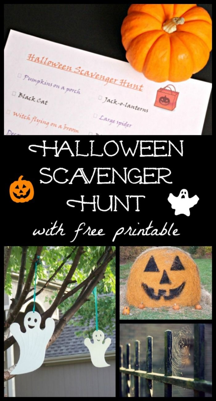 Halloween Scavenger Hunt With Free Printable | After School - Free Printable Halloween Scavenger Hunt