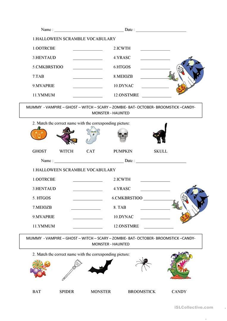 Halloween Word Scramble Worksheet - Free Esl Printable Worksheets - Free Printable Word Scramble Worksheets
