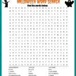 Halloween Word Search Printable Worksheet   Free Printable Halloween Puzzles