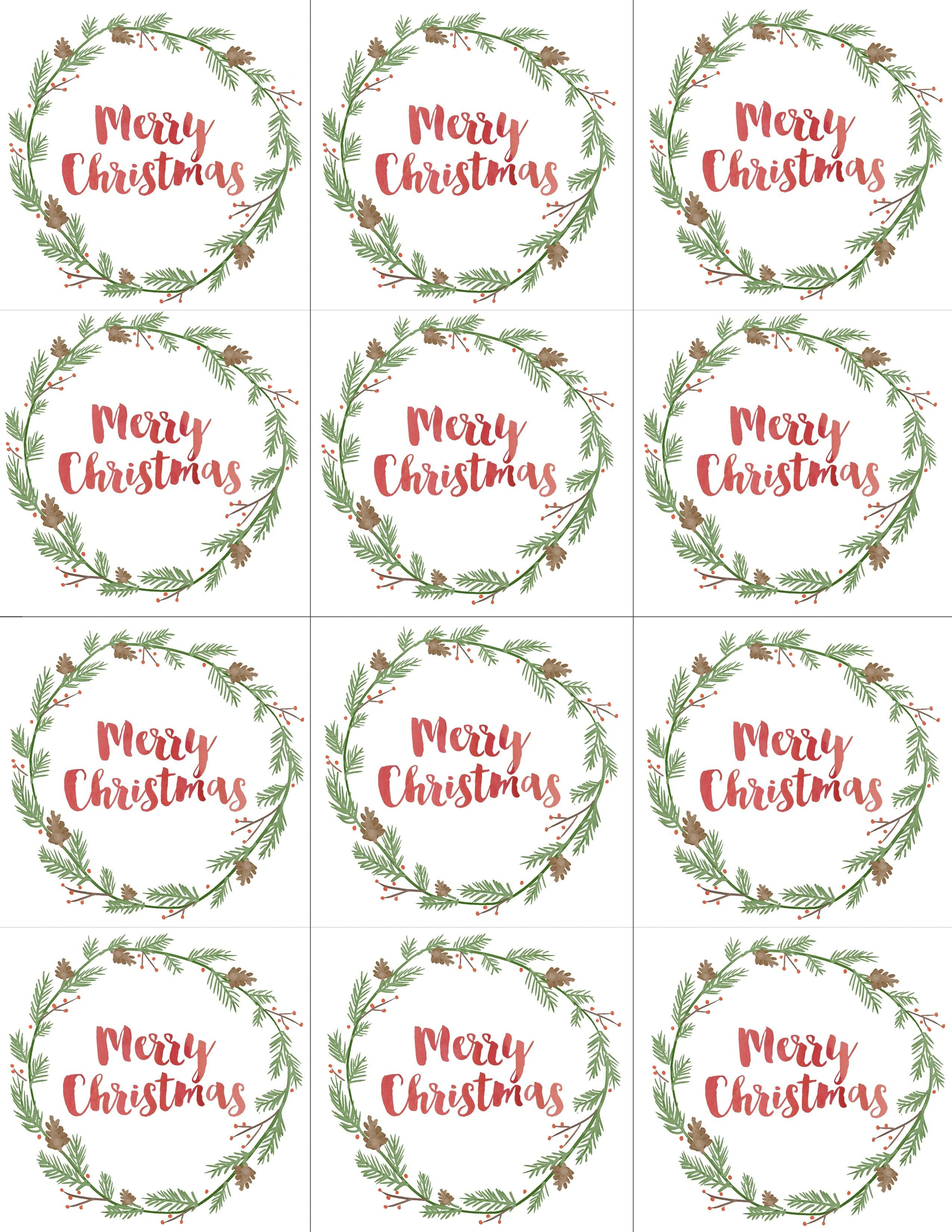 Hand Painted Gift Tags Free Printable | Christmas | Christmas Gift - Free Printable Christmas Gift Tags