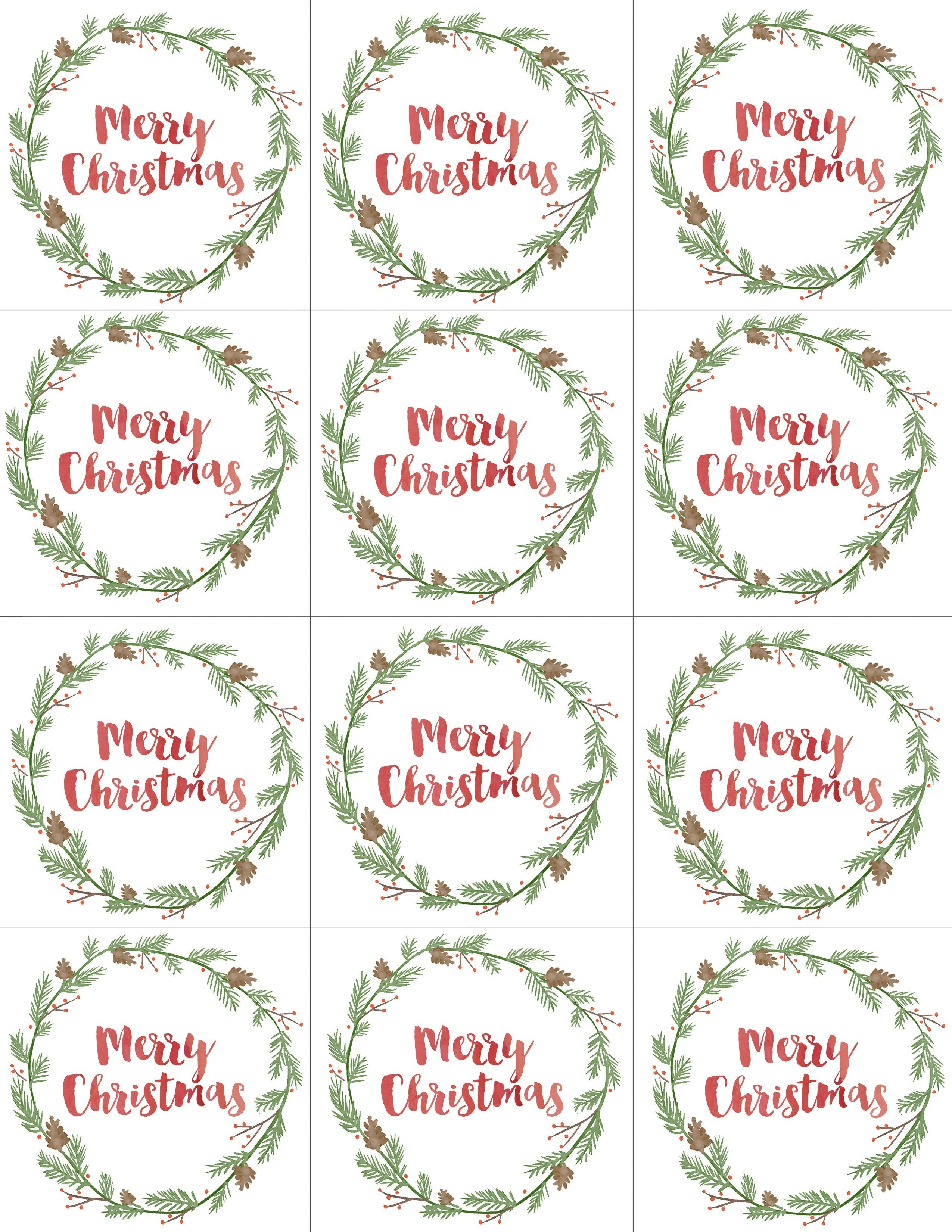 Hand Painted Gift Tags Free Printable | Christmas | Christmas Gift - Free Printable Customizable Gift Tags