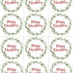 Hand Painted Gift Tags Free Printable | Christmas | Christmas Gift   Printable Gift Tags Customized Free